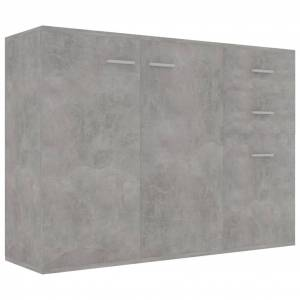 vidaXL Servantă, gri beton, 105 x 30 x 75 cm, PAL