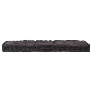 vidaXL Pernă podea canapea din paleți, negru, 120 x 40 x 7 cm, bumbac