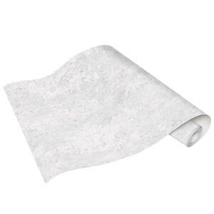 vidaXL Role de tapet nețesut, 4 buc., alb beton, 0,53 x 10 m