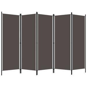 vidaXL Paravan de cameră cu 5 panouri, antracit, 250 x 180 cm