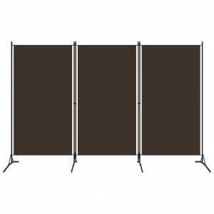 vidaXL Paravan de cameră cu 3 panouri, maro, 260 x 180 cm