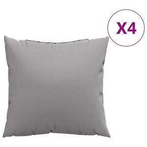 vidaXL Perne decorative, 4 buc., gri, 60x60 cm, material textil