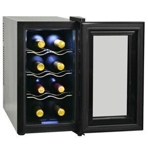 vidaXL Frigider bar răcitor de vin, 25 L, 8 sticle, afișaj LCD