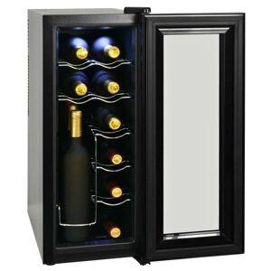 vidaXL Frigider bar răcitor de vin, 35 L, 12 sticle, afișaj LCD