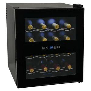 vidaXL Frigider bar răcitor de vin, 48 L, 16 sticle, afișaj LCD