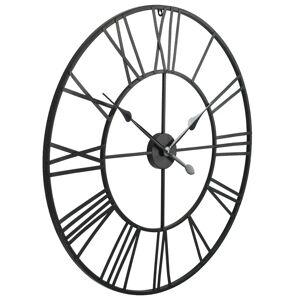 vidaXL Ceas de perete vintage, cu cuarț, lemn și metal, XXL, 80 cm