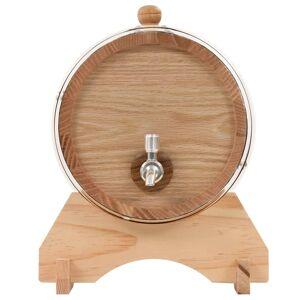 vidaXL Butoi de vin cu canea, stejar masiv, 6 L