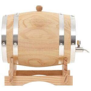 vidaXL Butoi de vin cu robinet, 6 L, lemn masiv de pin