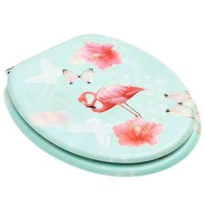 vidaXL Capac WC, MDF, model flamingo