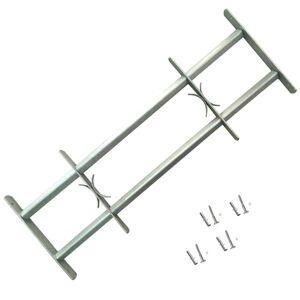 vidaXL Grilaj de siguranță pentru ferestre cu 2 bare transversale 700-1050 mm
