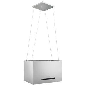 vidaXL Hotă suspendată insulă LCD senzor tactil 55 cm oțel inoxidabil