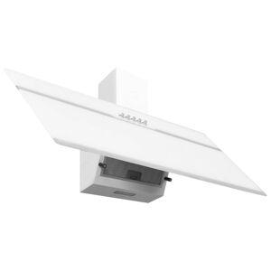 vidaXL Hotă de perete alb 90 cm oțel inoxidabil și sticlă securizată