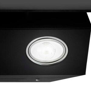 vidaXL Hotă de perete negru 60 cm oțel inoxidabil și sticlă securizată