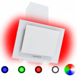 vidaXL Hotă RGB cu LED, 60 cm, oțel inoxidabil și sticlă securizată