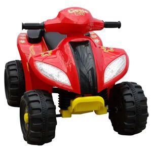vidaXL ATV electric copii roșu și negru