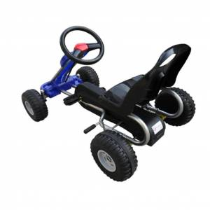 vidaXL Kart cu pedale Go Kart, albastru