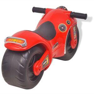 vidaXL Motocicletă fără pedale din plastic pentru copii, roșu
