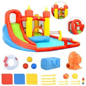 Happy Hop Saltea gonflabilă cu tobogan și piscină, 410x385x220 cm, PVC