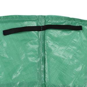 vidaXL Bandă de siguranță trambulină rotundă de 3,05 m, verde, PE
