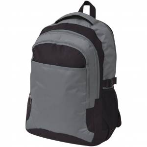 vidaXL Rucsac pentru școală, 40 L, negru și gri