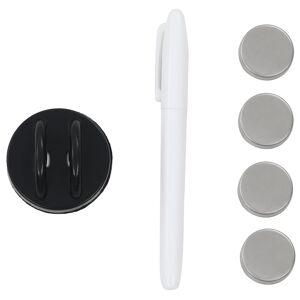 vidaXL Tablă magnetică de perete neagră, sticlă, 60 x 20 cm