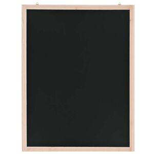 vidaXL Tablă neagră pentru perete, lemn de cedru, 60 x 80 cm