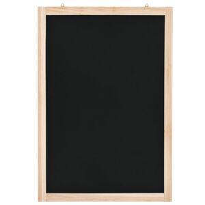 vidaXL Tablă neagră pentru perete, 40 x 60 cm, lemn de cedru
