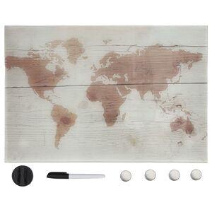 vidaXL Tablă magnetică de perete, 50 x 30 cm, sticlă