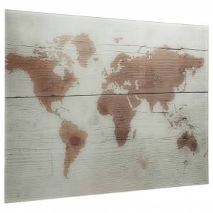 vidaXL Tablă magnetică de perete, 80 x 60 cm, sticlă