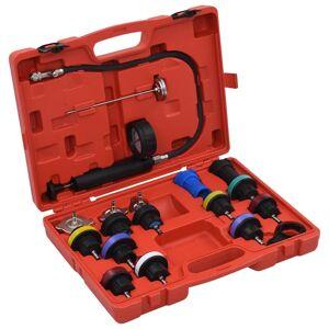 vidaXL Set testare presiune capac radiator și sistem răcire, 18 piese
