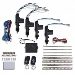 vidaXL Kit închidere centralizată auto, 2 chei VW/Audi/Skoda, 4 motorașe, 12V