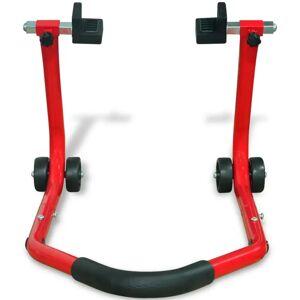 vidaXL Suport roată spate pentru motocicletă, roșu