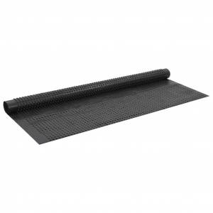 vidaXL Membrană de drenaj cu crampoane, 2 x 20 m, HDPE, 400 g/m²