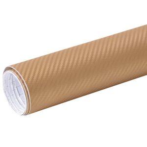 vidaXL Folie auto 3D, auriu, 500 x 152 cm