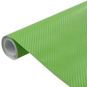 vidaXL Folie auto 3D verde 200 x 152 cm