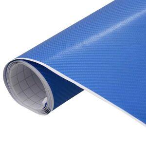 vidaXL Folie mașină 4D albastru 200 x 152 cm
