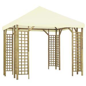 vidaXL Pavilion, alb crem, 3 x 3 m