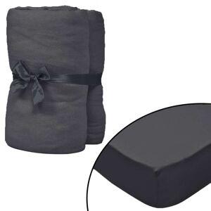vidaXL Husă de pat cu apă 2 buc., 1,6 x 2 m, bumbac jerseu, antracit