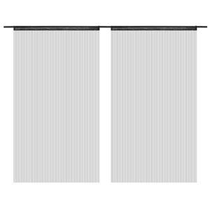vidaXL Draperii cu franjuri, 2 buc., 100 x 250 cm, negru