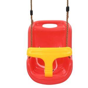 vidaXL Leagăn de bebeluși cu centură de siguranță, roșu, PP