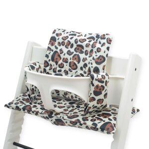Jollein Pernă pentru scaun înalt de copii, maro, model leopard