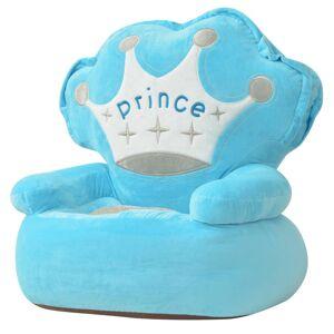 vidaXL Scaun din pluș pentru copii, Prince, albastru