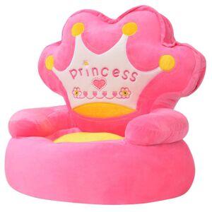 vidaXL Scaun din pluș pentru copii, Princess, roz