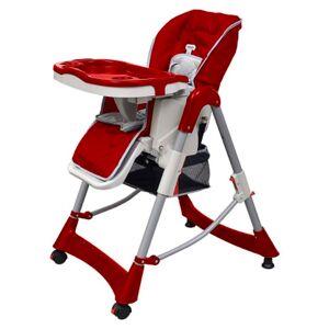 vidaXL Scaun înalt pentru copii, roșu bordo, înălțime reglabilă