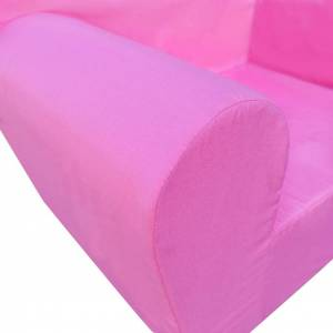 vidaXL Fotoliu pentru copii, roz