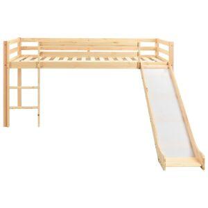 vidaXL Cadru pat copii etajat cu tobogan & scară 97x208cm lemn de pin
