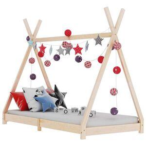 vidaXL Cadru de pat pentru copii, 90 x 200 cm, lemn masiv de pin