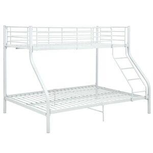 vidaXL Cadru de pat supraetajat, alb, 140 x 200/90 x 200 cm, metal