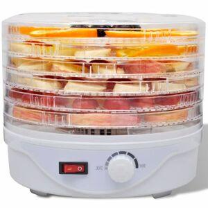 vidaXL Deshidrator de alimente cu 6 tăvi rotund