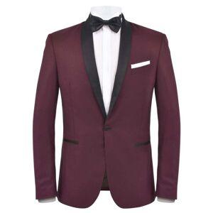 vidaXL Smoking/Costum de seară bărbătesc 2 piese mărime 46 vișiniu